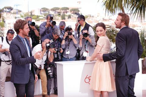MARION COTILLARD and MATTHIAS SCHOENAERTS at the Rust And Bone photocall